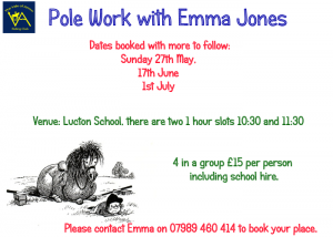 Pole work with Emma Jones @ Lucton School
