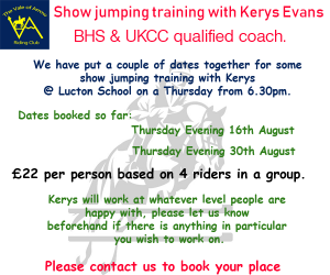 Show Jumping training with Kerys Evans @ Lucton School