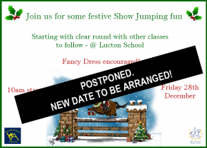 Show Jumping (Postponed) @ Lucton School